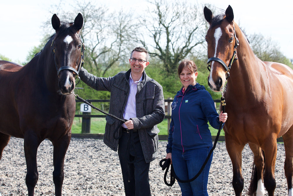 Keith Williams, UKSE Regional Manager (left) and Donna Barker, owner of Equine Therapy and Rehabilitation