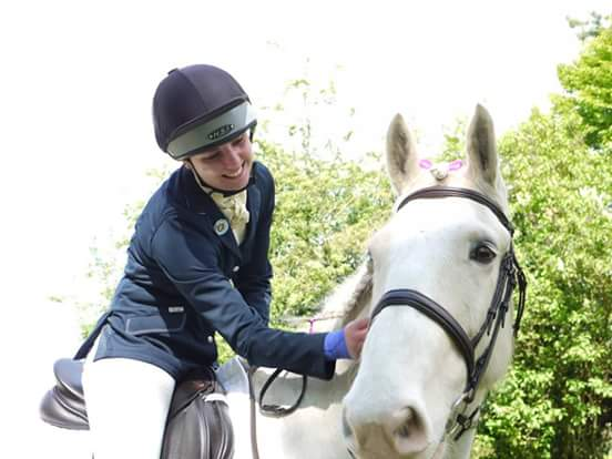 Cuddles with Ice after he did so well!