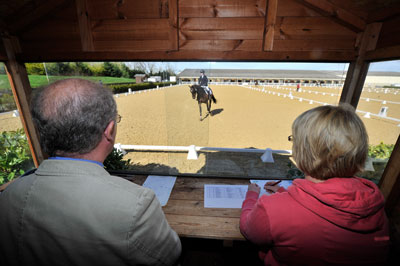 Competitions can't run without the help of volunteers, which includes dressage writers
