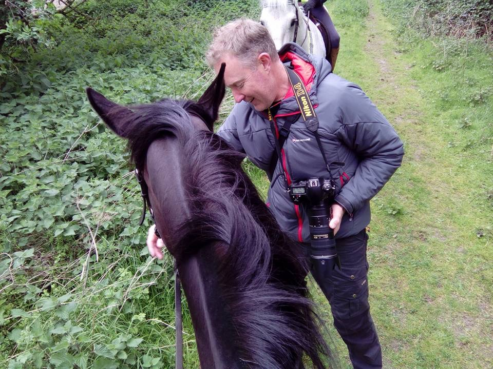 Matt chats to the horses