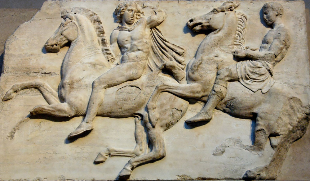 Horses have been used in warfare long before even the Ancient Greeks (part of the Parthenon frieze)