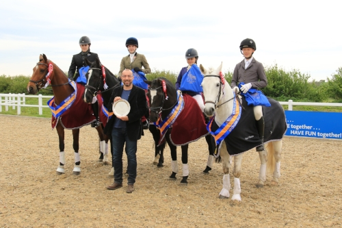 Three Counties Riding Club won the Junior team dressage competition
