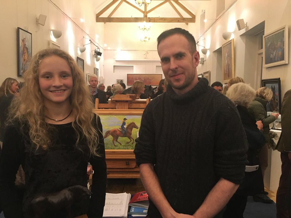 2016 John King Young Artist Award winner Sorrel Penman with Pony Club competition organiser Marty Bibby.