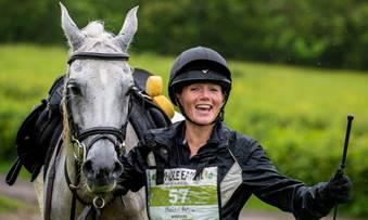 Winner, Iola Evans and her horse Rheidol Petra