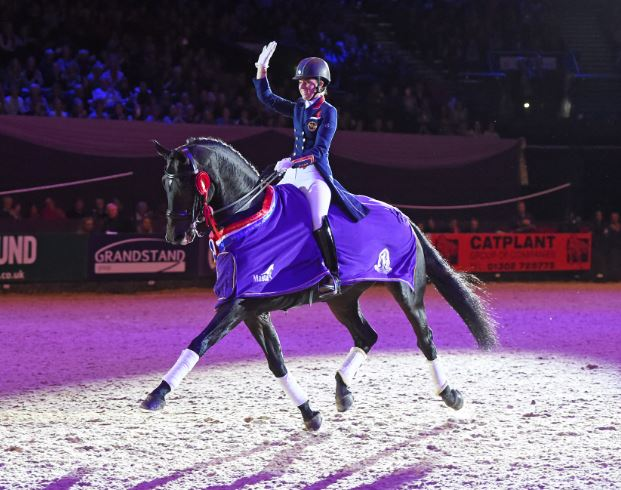 Hawtins Delicato and Charlotte Dujardin winning the Dressage Future Elite Championship at HOYS last year. Pic: ES Photography