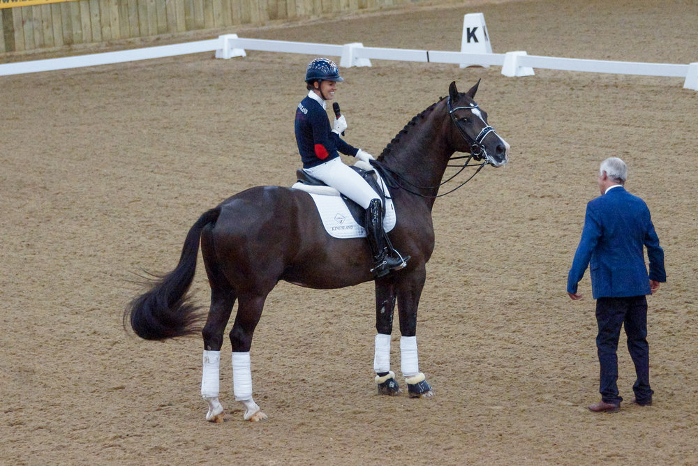 Valegro lapped up the attention from the packed out arena (Pic:Charlotte Colley)