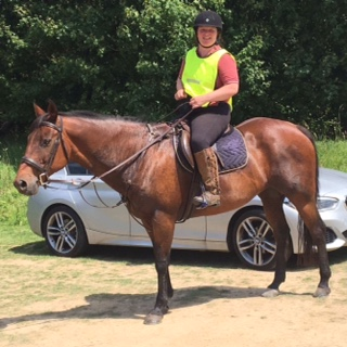 Louise finds that riding can help her feel better on even the toughest of days