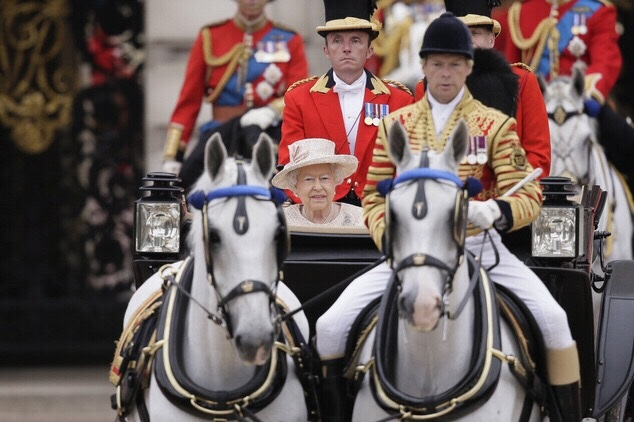 Daniel (left) Trooping The Colour