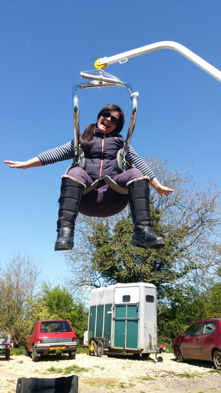 In the hoist!