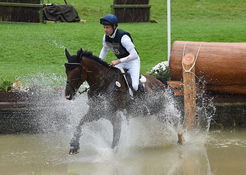 Christopher Burton riding Nobilis, the Land Rover Burghley Horse Trials 2016 Winner