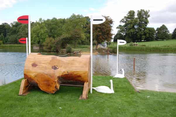 The log at fence 6 (jumped coming out of the water) gives riders options after they land...