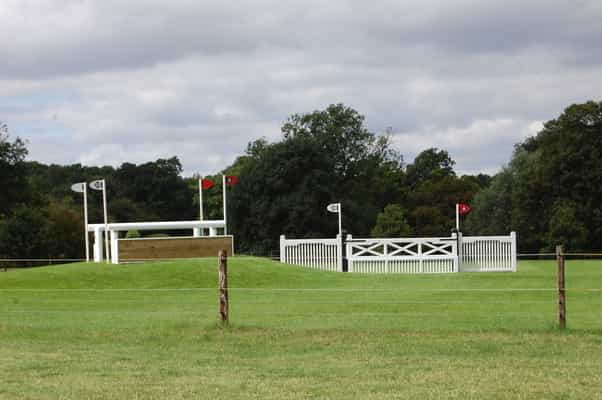 There's a choice of a gate or an oxer at 20