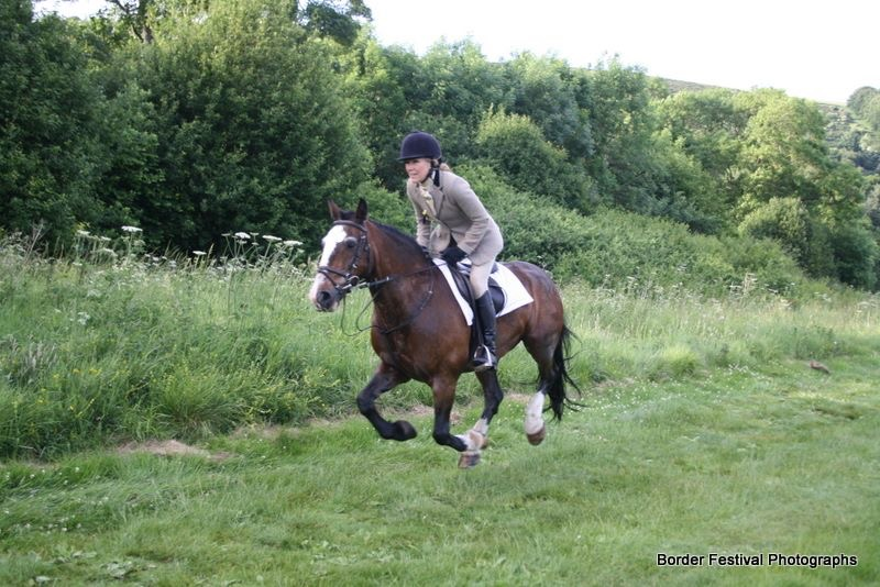 Woody hadn't really ridden before learning earlier this year