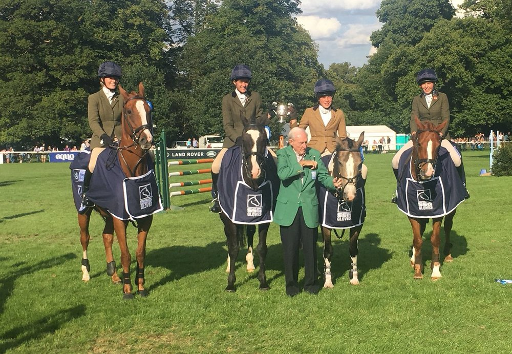 Credit: Land Rover Burghley Twitter - Puckeridge after their win in the Pony Club Jumping