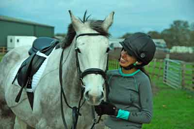 Following the Win a Horse competition Reena bought her loan horse, Archie