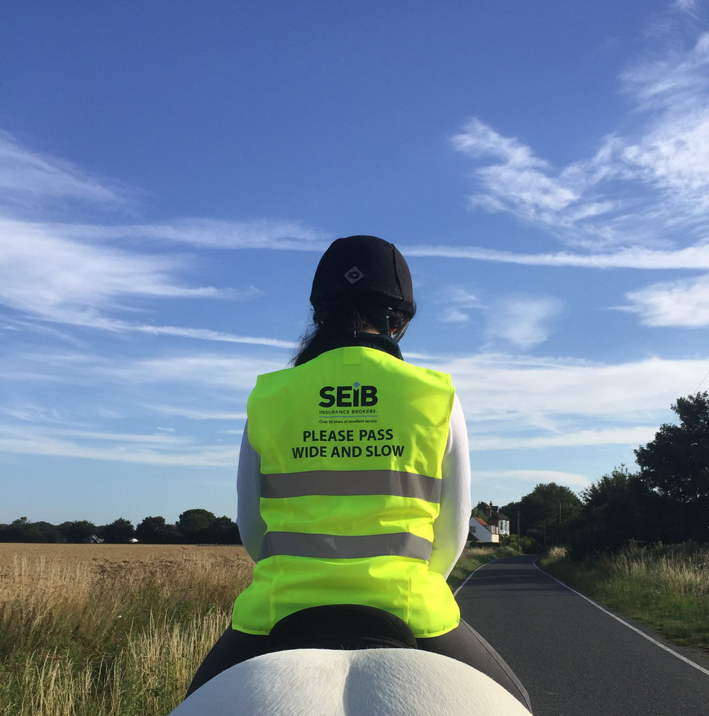 Be safe and be seen as you hack out by always wearing hIgh-vis