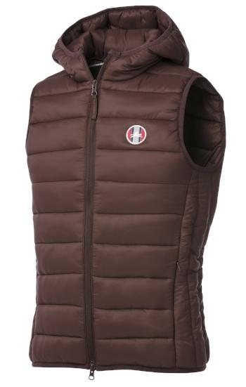 Equitheme padded waistcoat brown