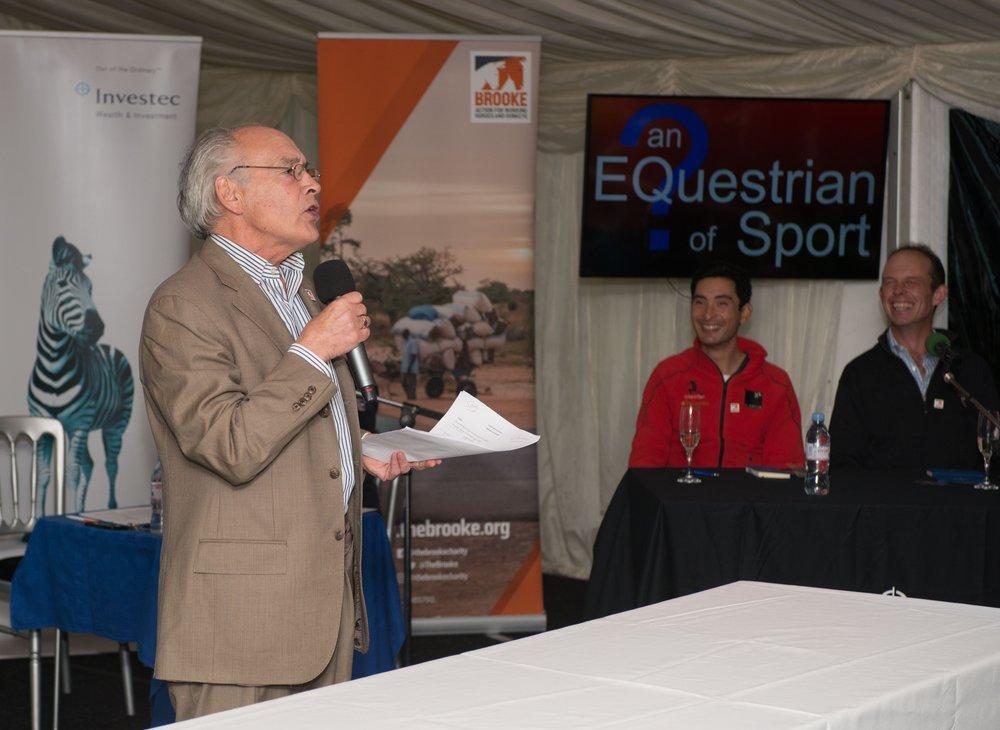 Alastair Stewart hosting EQuestian of Sport (Pic:Adam Fanthorpe)