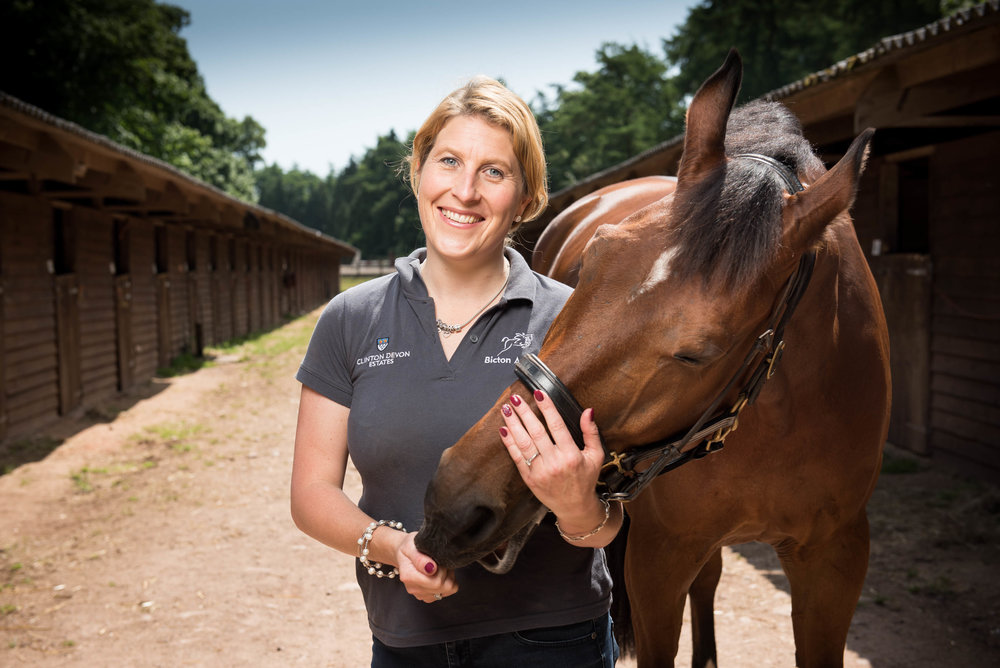 Bicton Arena's manager, Helen West