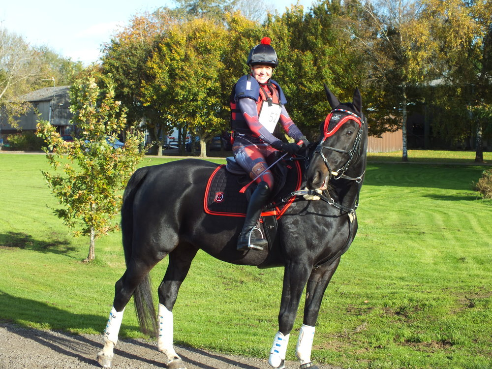 Jen competed on Sunday with rescue horse Rocco.
