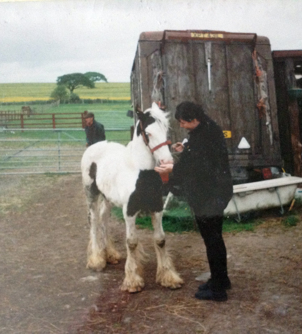 Christine rescued Flynn from a horse sale when he was only six months old