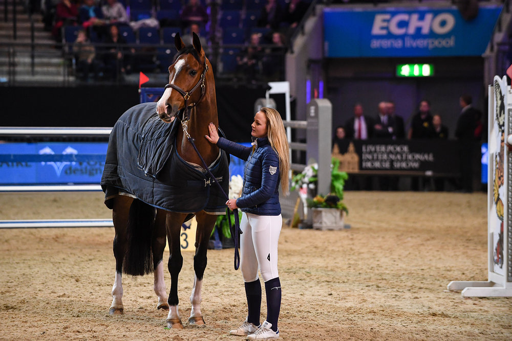 Horses were held in the main arena after being evacuated from