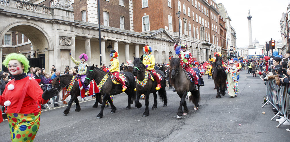 Just Clowning Around - All The Queen's Horses 2018. Photo By Jo Monck