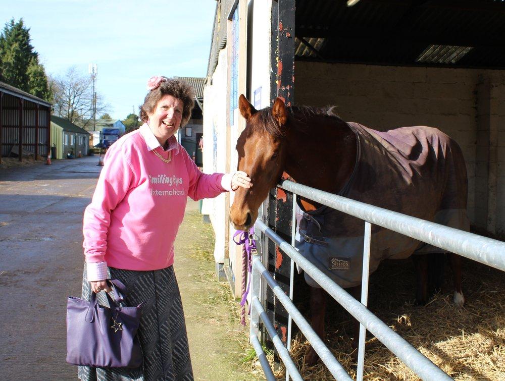 Sarah visiting HorseWorld