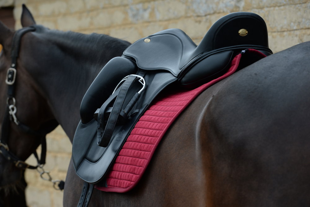 A correctly balanced saddle is comfortable for you and your horse