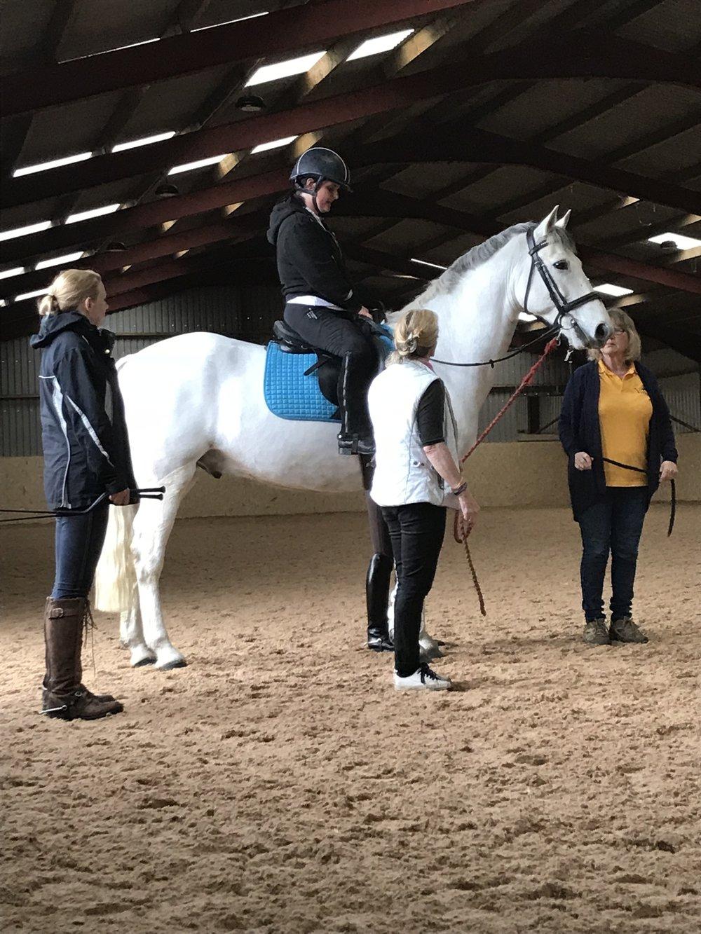 Sallyanne's instructor Nina Venables helped her regain her confidence