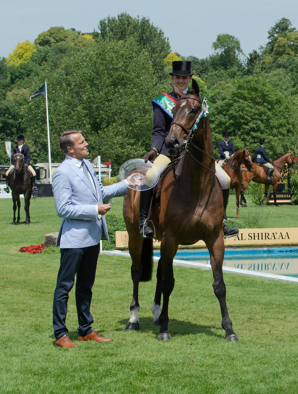 Winner of the RoR Show Series Champion,  former racehorse What Of It, ridden by Hannah Horton. Julian Portche Photography