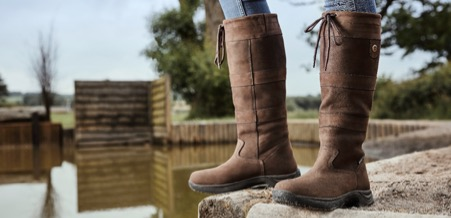 The Dublin River boots are equally at home in the country or at the yard