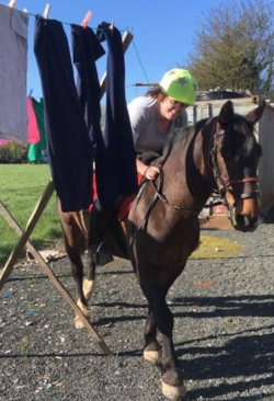 Anne-Marie Cronin practising for TREC at home