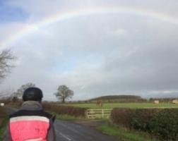 Tracy Clarke's rainbow reward