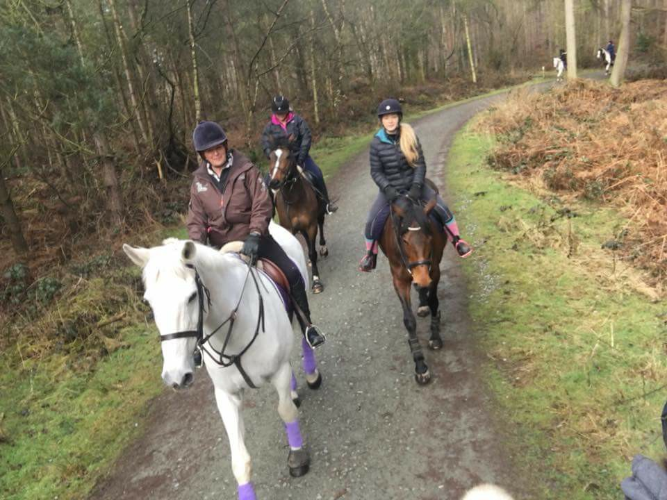 """Liz Leslie – """"When my 26-year-old horse Desi pulled his collateral ligament I thought I wouldn't ever ride him again. The day the vet said he could be hacked out I was so happy."""""""