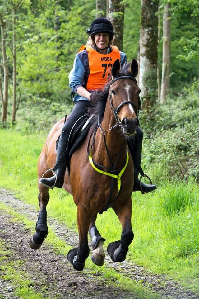 """Sam Bateman – """"Since joining in June last year my motivation has been boosted tremendously. It really makes me get out and hack. Knowing I'm not alone with naughty horse and confidence issues is reassuring too."""""""
