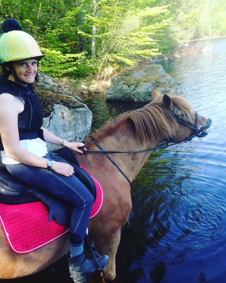 """Lisa Lidehäll – """"I really feel my mood improving each day. These days I wish I had more horses because I just want to ride."""""""
