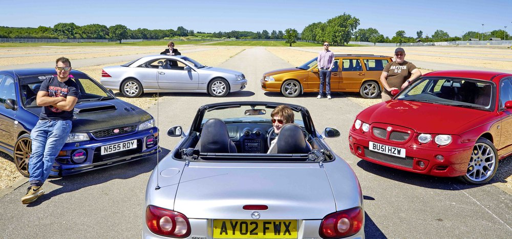 The Impreza:  Examples of the 1993-2001 Turbo can be picked up for surprisingly little, in either saloon or estate form. However, many have been lowered, stickered-up and trashed by young men in cheap tracksuits so trawl the classifieds carefully.   The MGZT:  You can still get a decent one for under a grand, but we don't think this will be the case for much longer, especially as many of those in daily use are still falling by the wayside, cast aside by owners who have little interest in their classic potential. Double your money, and £2000 should bag you a really nice one.   The Mercedes CL500:  If we told you that you could have a 300bhp V8 grand tourer capable of seating four, taking their luggage and transporting it to Monaco at 155mph - a car which wouldn't look out of place in the principality - and a car with one of the best badges in the business, you'd be interested, surely?   The MX-5 Mk2:  This is still the MX-5 you read about – tight, taught, balanced and tractable. It's the only car here, with the possible exception of the Scooby, that feels old school classic, in the sense that it lets the outside in and connects you with the driving experience without a load of nonsense getting in the way.   The Volvo V70R:  There really is no need for an estate car to be this fast or handle so well. It's essentially a touring car for the road. But if you want to scare the living daylights out of your labrador, there's no better car for the purpose than a first generation Volvo V70R.