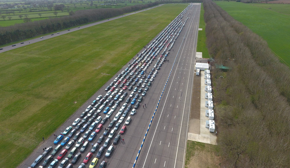 We take part in a world record breaking attempt with 1500 Volvos!