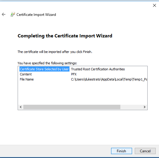 Yay!  The end of the certificate installation.  If all of these went correctly, you should now be able to run the patcher (right click and do it as Administrator!) and not get the Host_AuthFail problem.