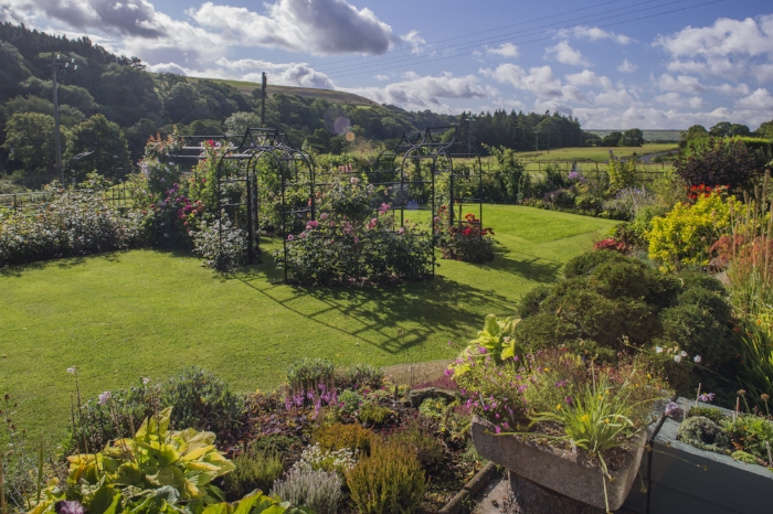 With jaw-dropping views of the surrounding countryside, the owner of this colourful Durham plot has strived to keep them unobscured