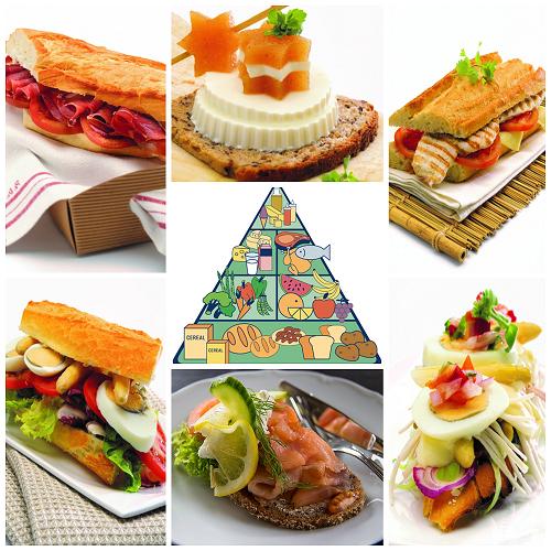 Unos ejemplos sanos de los bocadillos y tostas que se pueden preparar con la dieta de Terica Uriol. Comida sana, variada, equilibrada y sin grasa. ¡Delicioso!