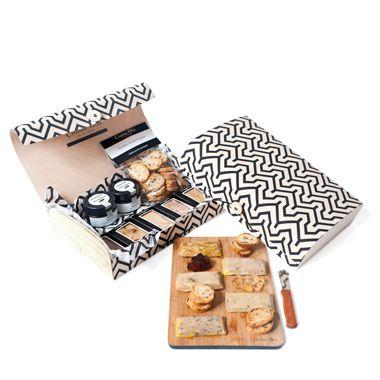Packs de regalo que incluye el premiado foie mi cuit de Cristina Oria