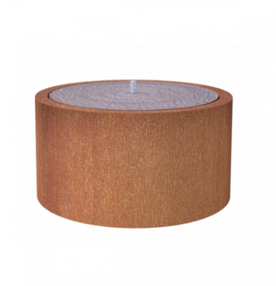 Corten steel round water table £1,159