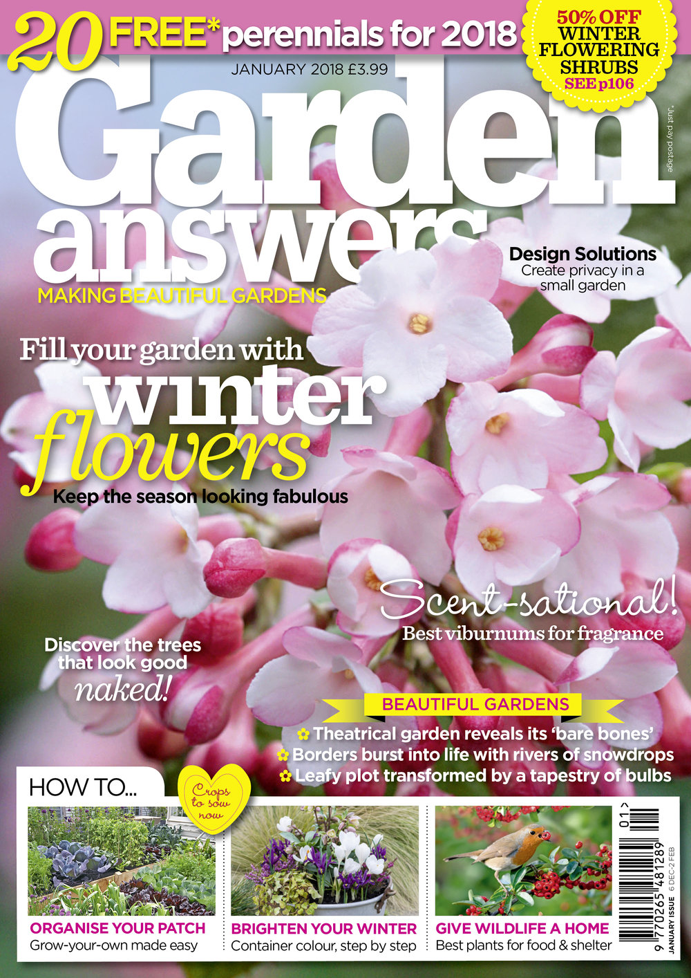 JANUARY ISSUE ON SALE DEC 6 — Garden Answers