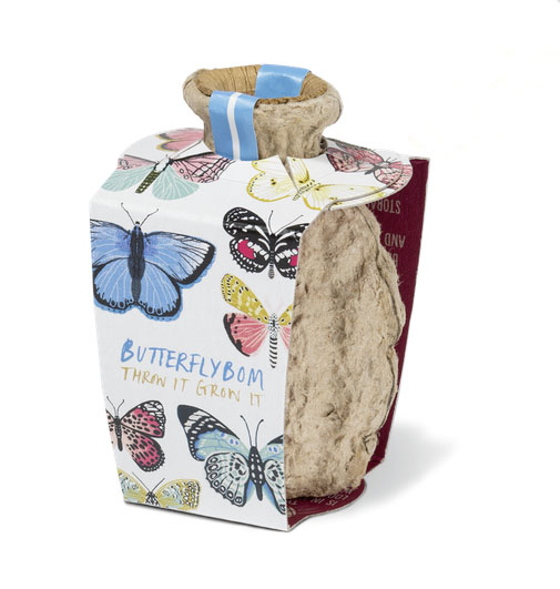 Butterflybom seed bomb £3.60 Kabloom 0141 423 6671; www.kabloom.co.uk