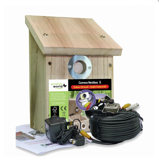 Colour and infrared nest box £143.99 Wildlife World 01793 461650; www.wildlifeworld.co.uk