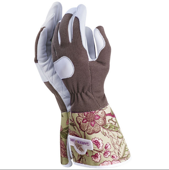 Garden Girl Working Gloves with extended cuffs £15.95 Garden Divas 01462 421836; www.gardendivas.co.uk