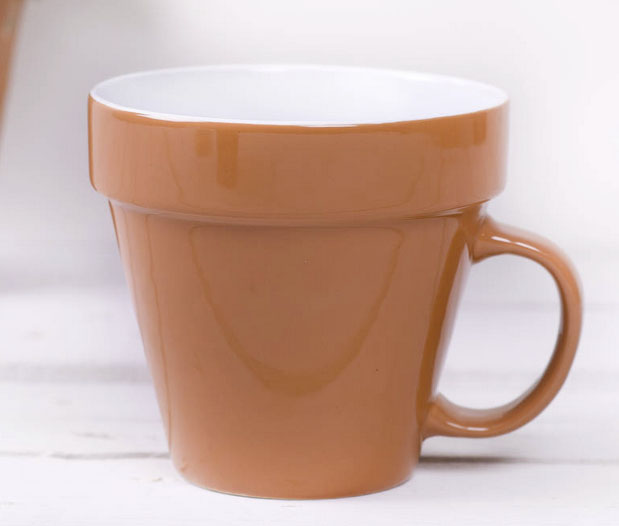 Gardeners plant pot mug £1295 The Little Boys Room at Not on the High Street 0203 318 5115; www.notonthehighstreet.com