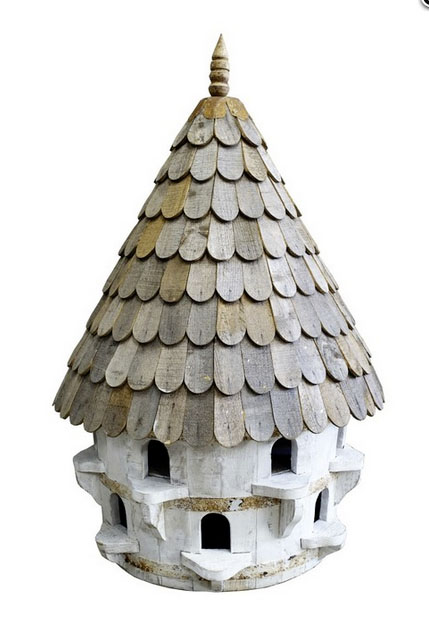 Large half round bird house (dovecote) £517 Wildlife World 01666 505333; www.wildlifeworld.co.uk